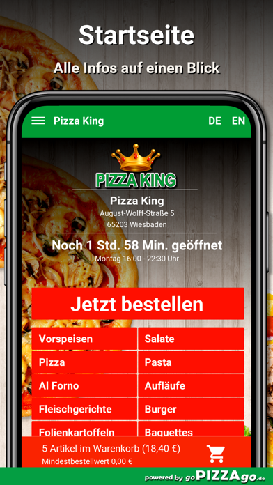 Pizza King Wiesbaden screenshot 2