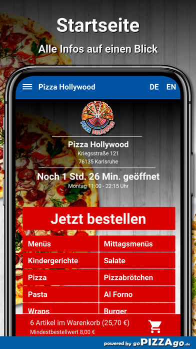 Pizza Hollywood Karlsruhe screenshot 2