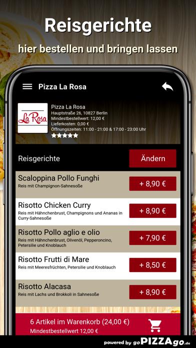 Pizza La Rosa Berlin screenshot 6
