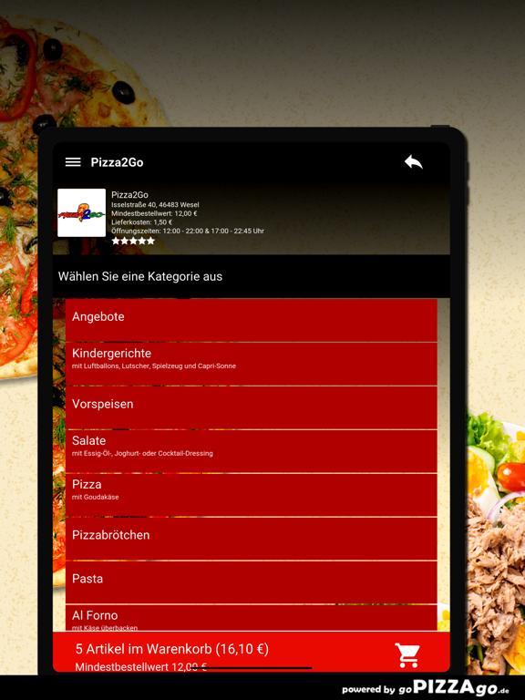 Pizza2Go Wesel screenshot 8