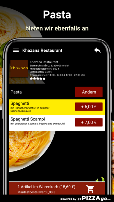 Khazana Restaurant Gütersloh screenshot 6