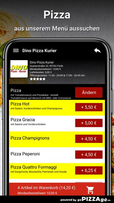 Dino Pizza Kurier Fürth screenshot 6