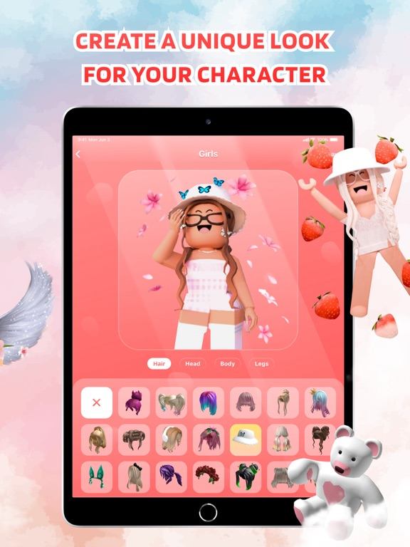 iPad Image of Girls Skins for Roblox