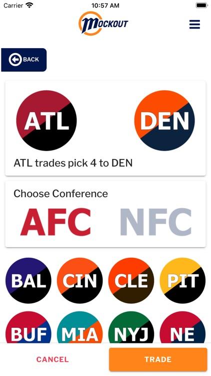 MockOut - NFL mock draft game