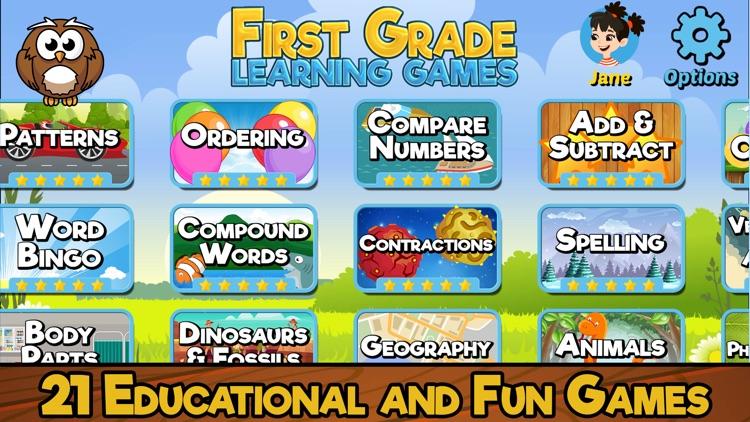 First Grade Learning Games screenshot-0