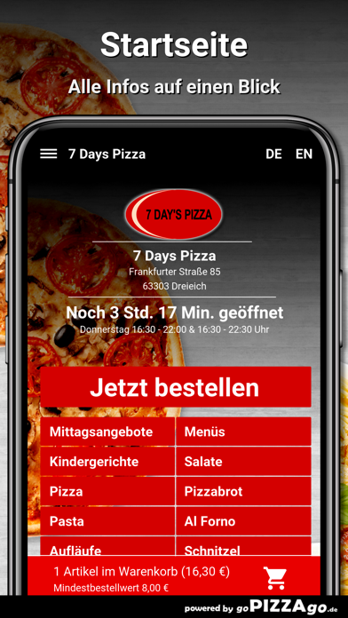 7 Days Pizza Dreieich screenshot 2