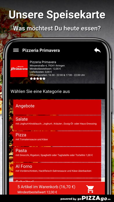 Pizzeria Primavera Ihringen screenshot 4