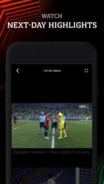 Europa: official football app screenshot-3
