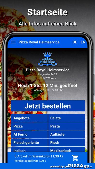 Pizza Royal Heimservice Worms screenshot 2