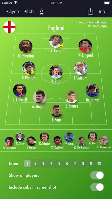 Lineup - Football Squadのおすすめ画像1