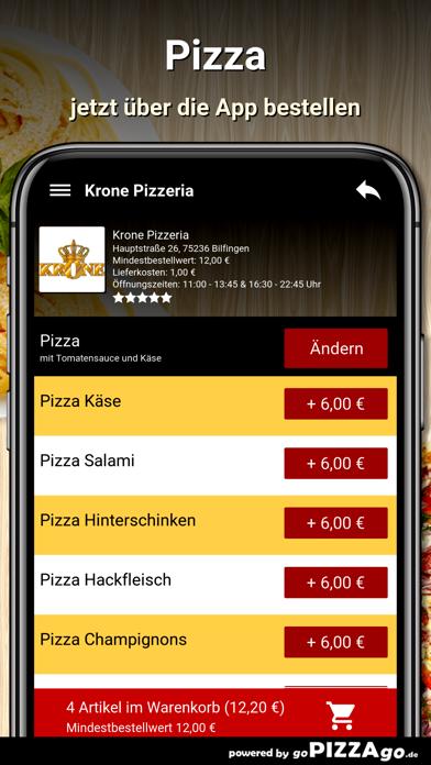 Krone Pizzeria Bilfingen screenshot 5
