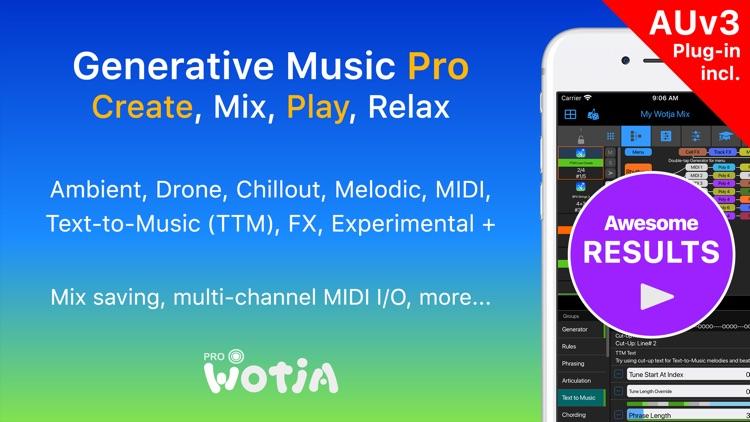 Wotja Pro 21: Generative Music screenshot-0
