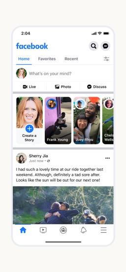 Facebook app screenshot