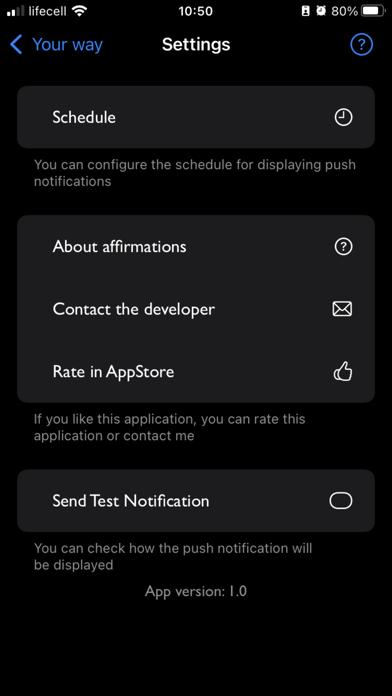 Your Way - Affirmation screenshot 8