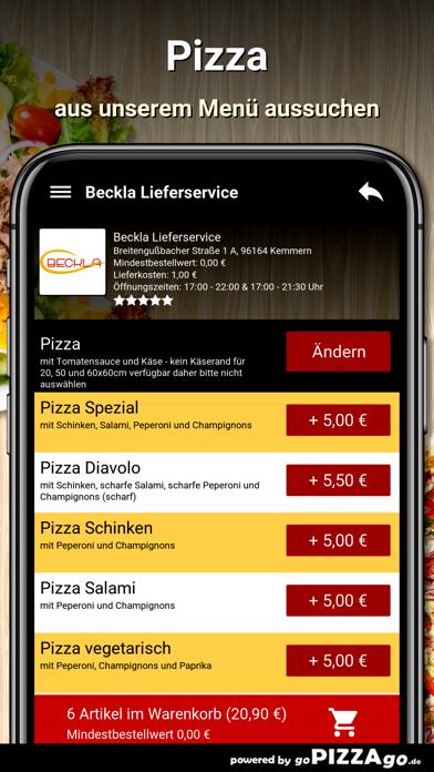 Beckla Lieferservice Kemmern screenshot 5