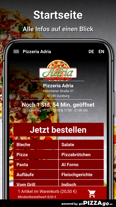 Pizzeria Adria Duisburg screenshot 2