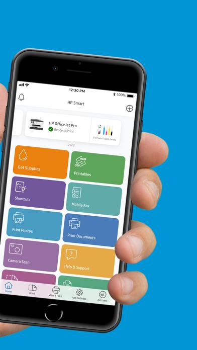 HP Smart iphone captures décran