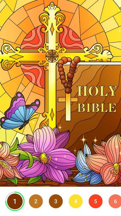 Bible Color - Paint by Number