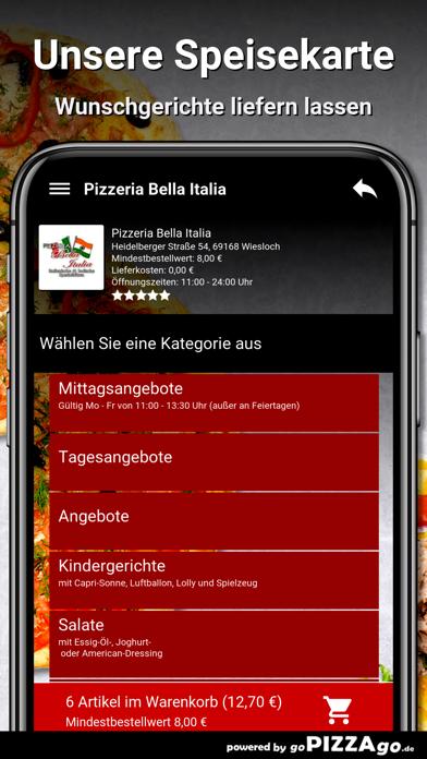 Pizzeria Bella Italia Wiesloch screenshot 4