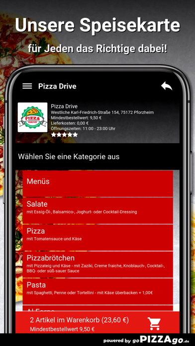 Pizza Drive Pforzheim screenshot 4