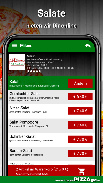 Milano Hamburg screenshot 5
