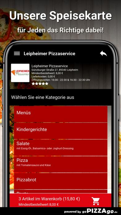 Leipheimer Pizzaservice Leiphe screenshot 4