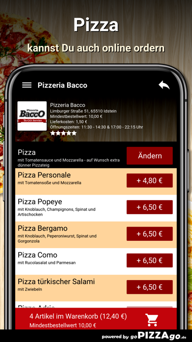 Pizzeria Bacco Idstein screenshot 5
