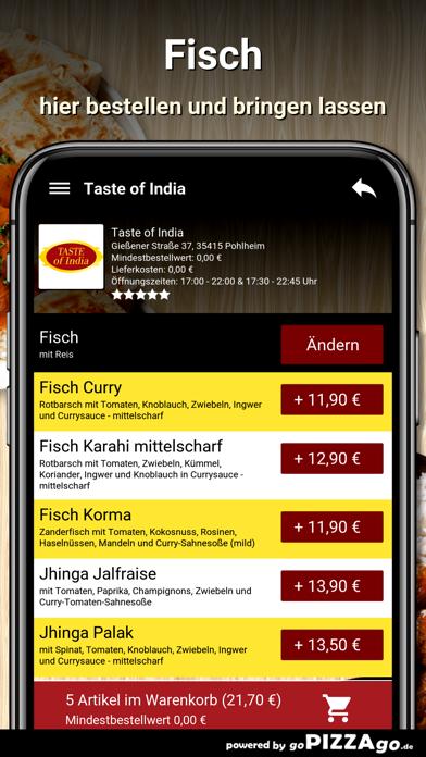Taste of India Pohlheim screenshot 6