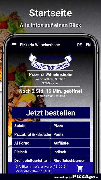 Pizzeria Wilhelmshöhe Calden screenshot 2