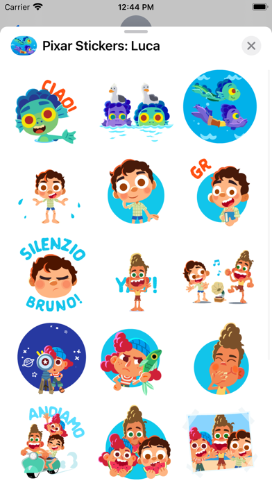 Pixar Stickers: Luca screenshot 2