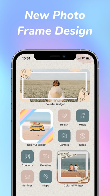 Colorful Widget: screen theme screenshot-3