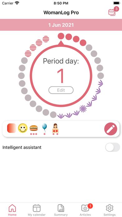 WomanLog Pro Calendar Screenshots