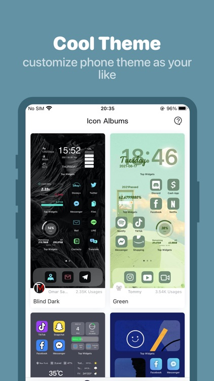 Top Widgets -  Icons & Themes screenshot-5