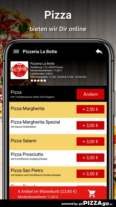 Pizzeria La Botte Essen screenshot 5