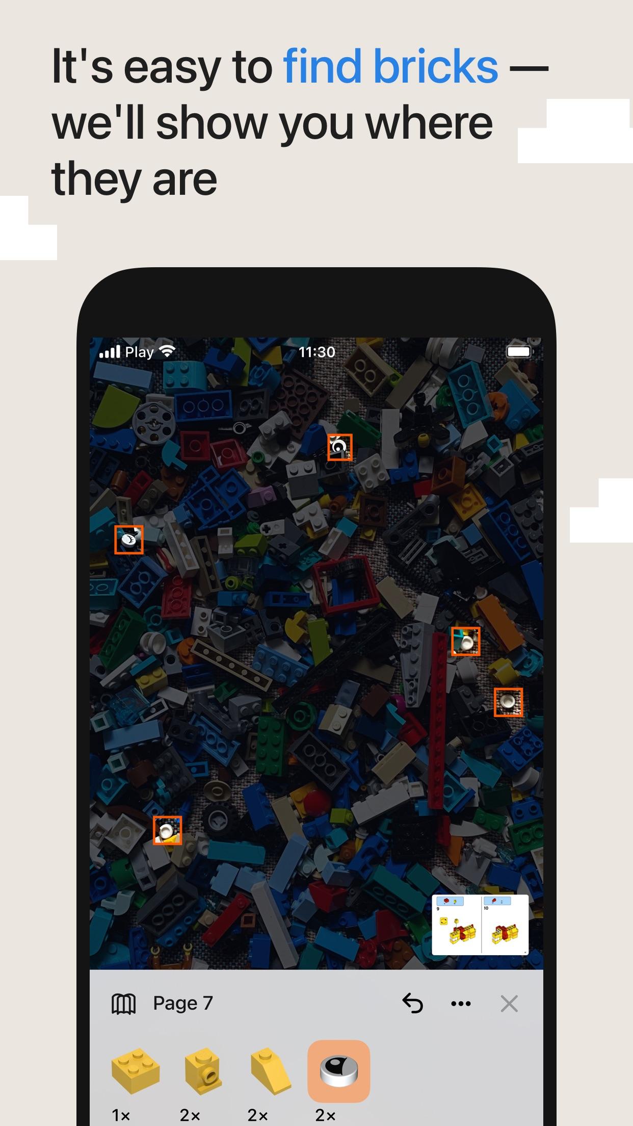 Screenshot do app Brickit: Rebuild your Lego