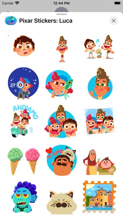 Pixar Stickers: Luca screenshot 3