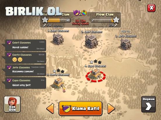 Clash of Clans ipad ekran görüntüleri