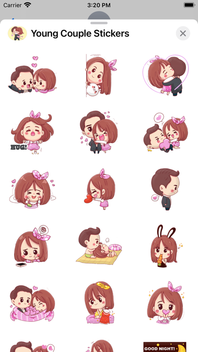Young Couple Stickers screenshot 2