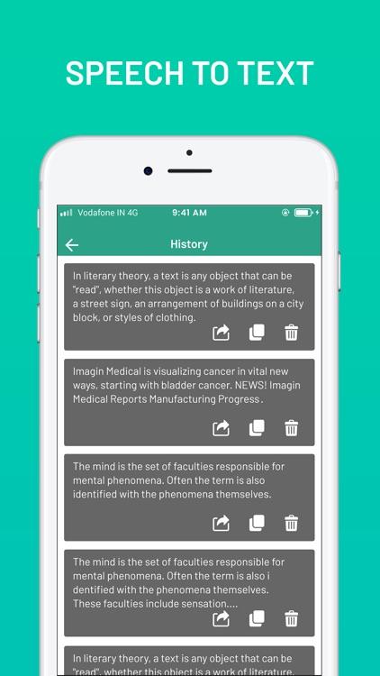 Text To Speech : Voice Memo screenshot-4