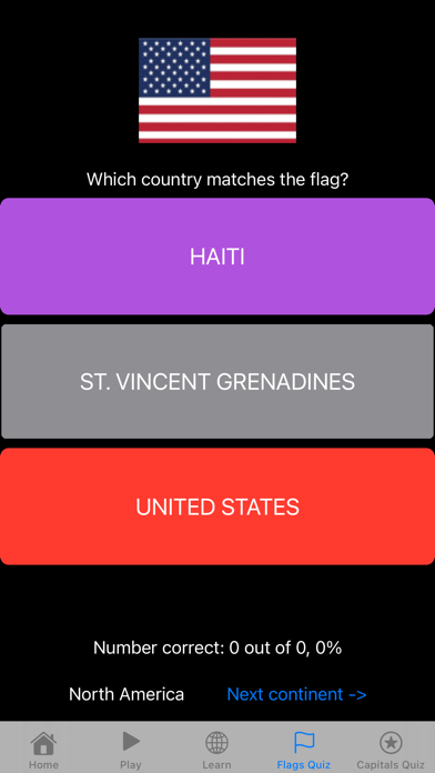 Flags Learner App Screenshot