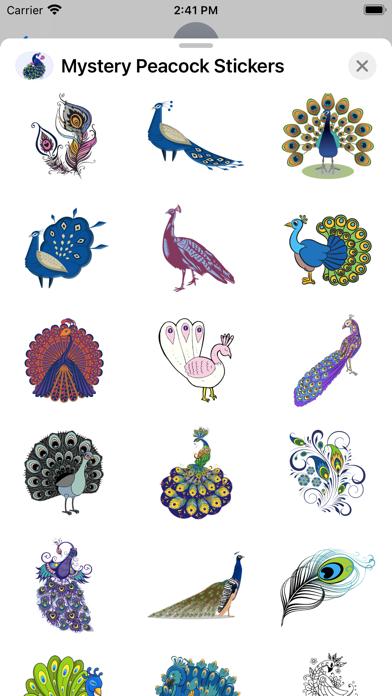 Mystery Peacock Stickers screenshot 3