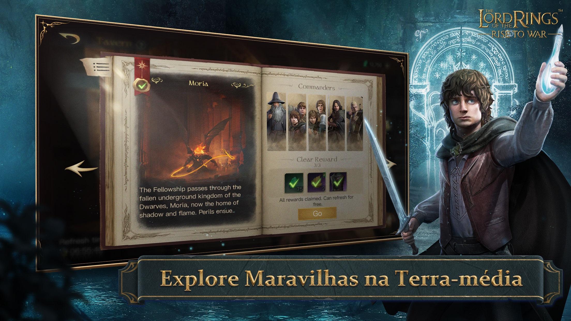 Screenshot do app O Senhor dos Anéis: Guerra