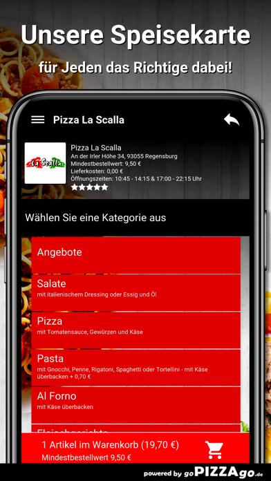 Pizza La Scalla Regensburg screenshot 4