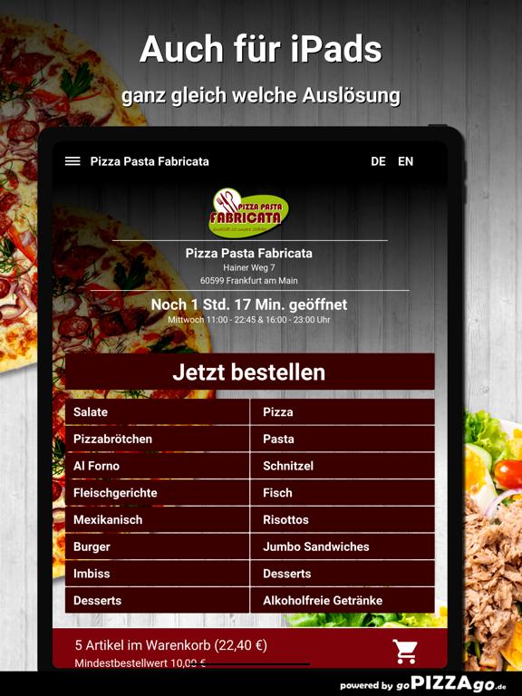 Pizza Pasta Fabricata Frankfur screenshot 7
