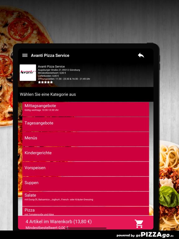 Avanti Pizza Service Günzburg screenshot 7