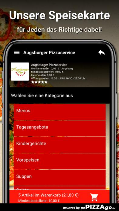 Augsburger Pizzaservice Augsb screenshot 4
