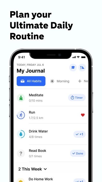 Habitify Routine Habit Tracker