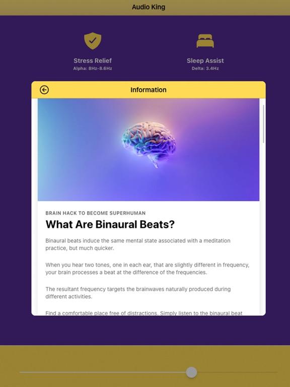 Audio King - Binaural Beats screenshot 5