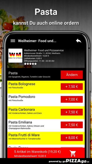 Weilheimer Pizza Weilheim screenshot 5
