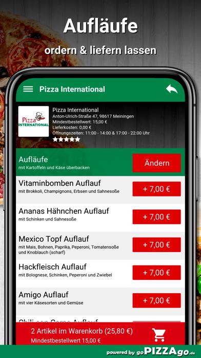 Pizza International Meiningen screenshot 6